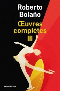 Oeuvres complètes. Volume 3,