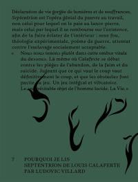 Pourquoi je lis Septentrion de Louis Calaferte