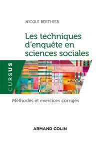 Les techniques d'enquête en sciences sociales