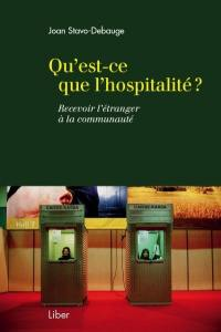 Qu'est-ce que l'hospitalité?