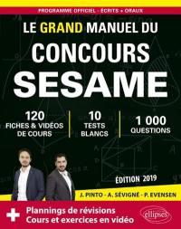 Le grand manuel du concours Sésame