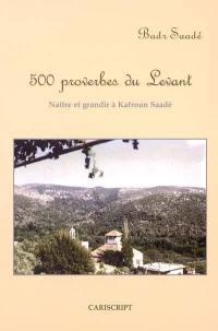 500 proverbes du Levant