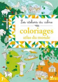 Coloriages atlas du monde