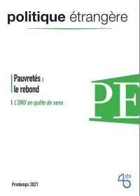 Politique étrangère. n° 1 (2021), Pauvretés