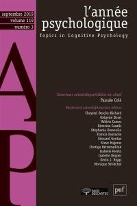 Année psychologique (L'). n° 3 (2019),