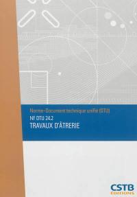 Travaux d'âtrerie : NF DTU 24.2
