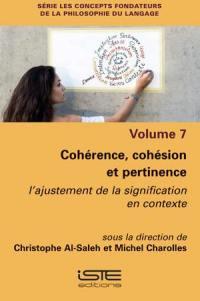 Cohérence, cohésion et pertinence