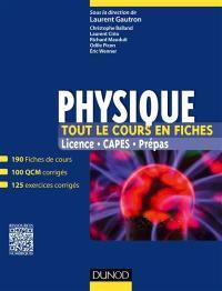 Physique, tout le cours en fiches