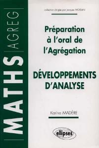 Développements d'analyse