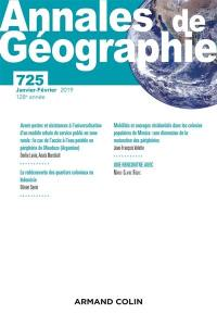 Annales de géographie. n° 725,