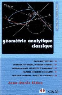 Géométrie analytique classique