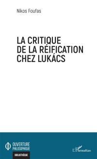La critique de la réification chez Lukacs