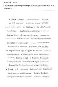 Encyclopédie des longs métrages français de fiction. Volume 13, Du Diable au coeur à Dynamite Jack