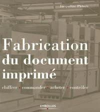 Fabrication du document imprimé