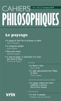 Cahiers philosophiques. n° 157, Le paysage