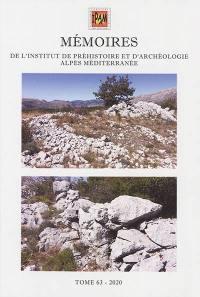 Mémoires de l'Institut de préhistoire et d'archéologie Alpes Méditerranée. Volume 63,