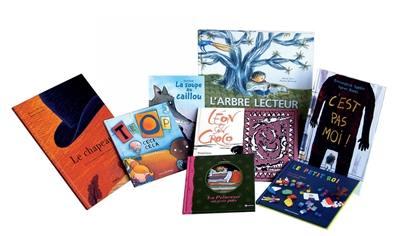 Pack de 8 albums A l'école des albums, série bleue