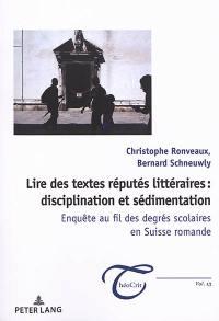 Lire des textes réputés littéraires