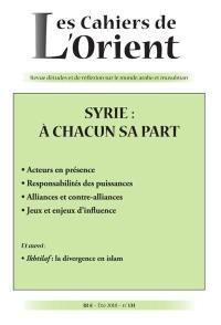 Cahiers de l'Orient (Les). n° 131, Syrie