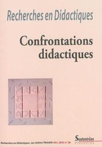 Recherches en didactiques. n° 20, Confrontations didactiques