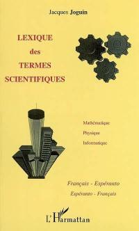 Lexique des termes scientifiques