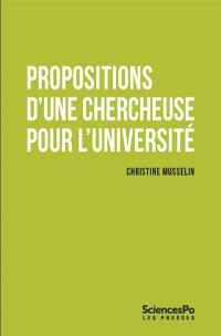 Propositions d'une chercheuse pour l'université
