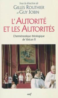 L'autorité et les autorités