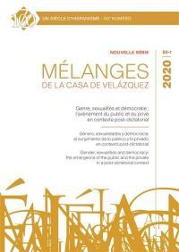 Mélanges de la Casa de Velazquez. n° 50-1, Genre, sexualités et démocratie