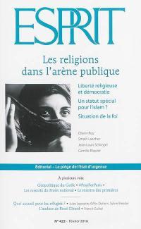 Esprit. n° 422, Les religions dans l'arène publique