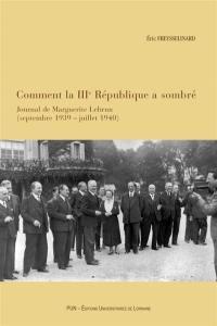 Comment la IIIe République a sombré