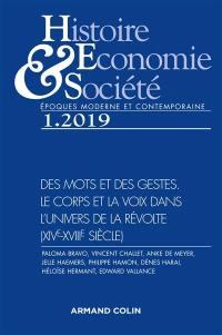 Histoire, économie & société. n° 1 (2019), Des mots et des gestes