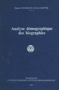 Analyse démographique des biographies