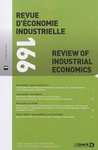 Revue d'économie industrielle. n° 166,