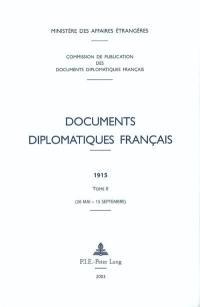 Documents diplomatiques français. Volume 2, 26 mai-15 septembre