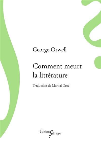 Comment meurt la littérature
