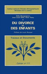 Du divorce et des enfants
