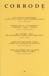 Corrode : revue de critique et création littéraire. n° 1,