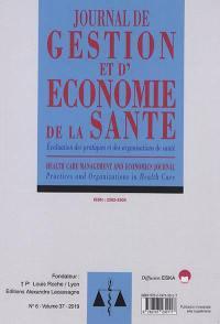 Journal de gestion et d'économie médicales : évaluation des pratiques et des organisations de santé. n° 37-6,