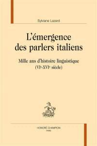 L'émergence des parlers italiens