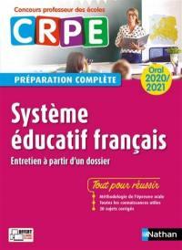 Système éducatif français, entretien à partir d'un dossier