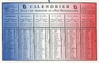 Le calendrier révolutionnaire