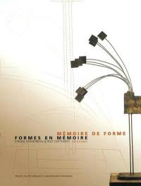 Mémoire de forme, formes en mémoire