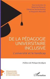 De la pédagogie universitaire inclusive