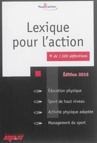 Lexique pour l'action, + de 1.300 définitions