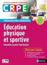 Education physique et sportive, entretien à partir d'un dossier