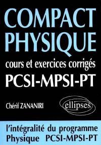 Compact physique PCSI MPSI PT