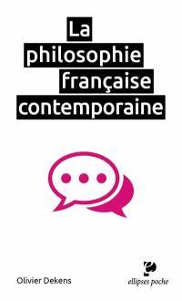 La philosophie française contemporaine