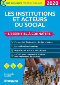 Les institutions et acteurs du social