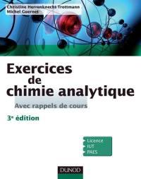 Exercices de chimie analytique, avec rappels de cours