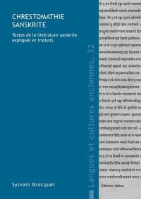 Chrestomathie sanskrite